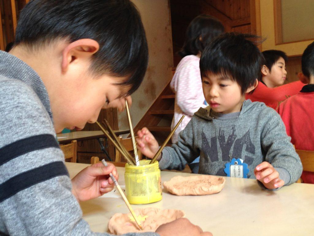 春休み親子陶芸体験