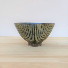 商品041 ストライプ アポロ型飯碗(小・大)